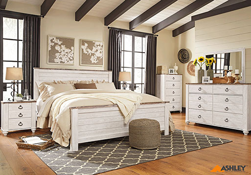 High quality Ashley furniture will make any room complete - Come by Neve's Floors To Go and Furniture today!