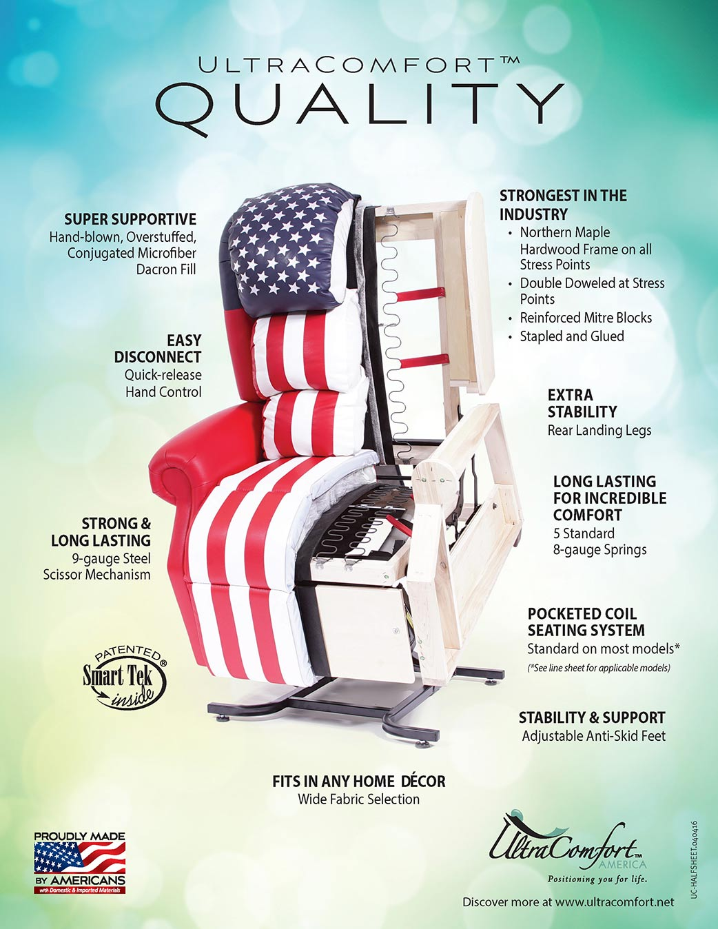 When choosing your next lift chair, choose UltraComfort™ Quality from Neve's Floors To Go in Antigo