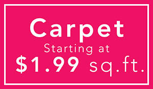 Carpet on sale starting at only $1.99 sq.ft. - Black Friday Sale at Neve's Floors To Go Furniture & Mattress Gallery in Antigo, Wisconsin!