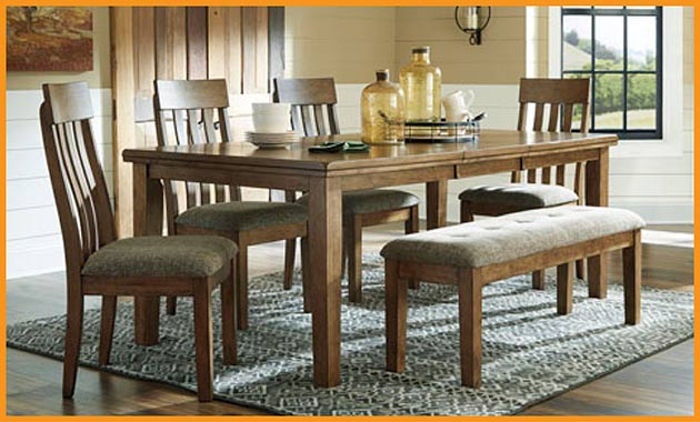 6 PC Dining Set $699 this month at Neve's Floors To Go Furniture & Mattress Gallery
