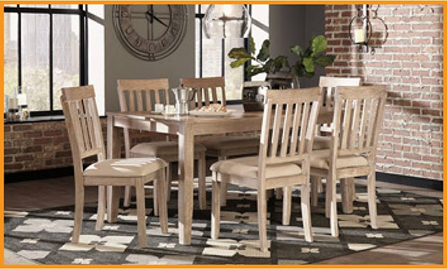 7 PC Dining Set $499 this month at Neve's Floors To Go Furniture & Mattress Gallery