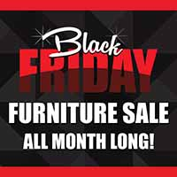 Celebrate by saving big during our Black Friday sale at Neve's Floors To Go Furniture and Mattress Gallery