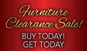 Save on furniture during our Furniture Clearance Sale at Neve's Floors to Go Furniture & Mattress Gallery in Antigo, WI