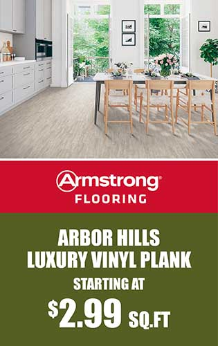 Armstrong Flooring – Arbor Hills Luxury Vinyl Plank starting at $2.99 sq.ft.