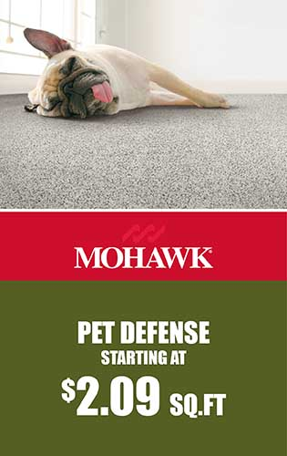 Mohawk – Pet Defense Starting at $2.09 sq.ft.