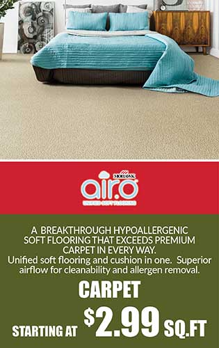 Mohawk Air.o Carpet starting at $2.99 sq.ft.