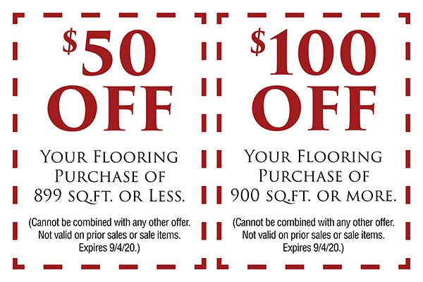 Fall Home Makeover Sale going on now at Neve's Floors To Go & Mattress Gallery! Receive $100 off your flooring purchase of 900 sq.ft. or more. Receive $50 off your flooring purchase of 899 sq.ft. or less. (Cannot be combined with any other offer. Not valid on prior sales or sale items. Expires 9/4/2020)