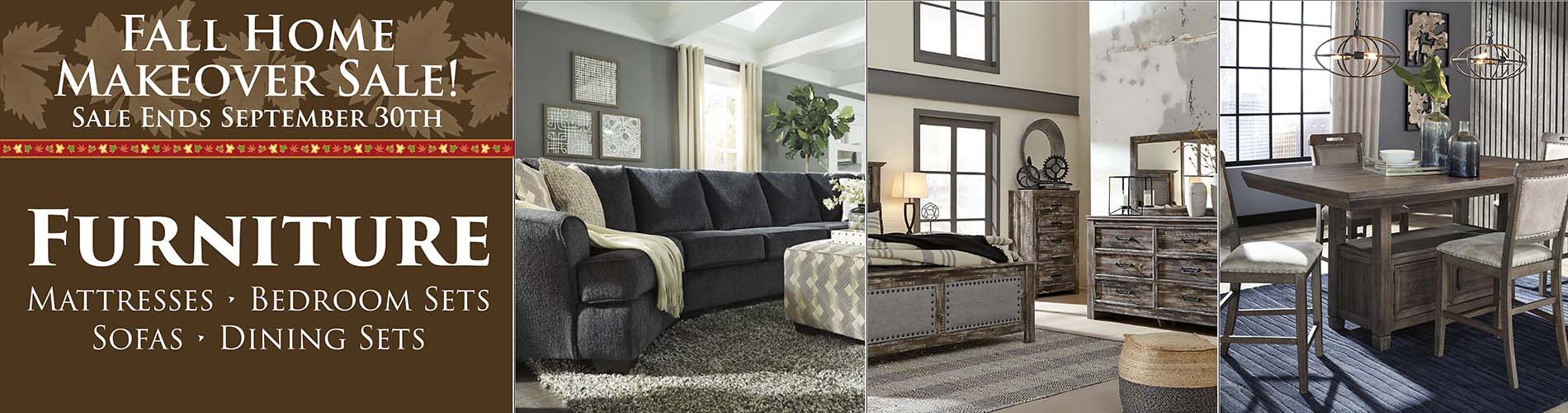 Fall Home Makeover Sale going on now at Neve's Floors To Go & Mattress Gallery!  Hurry in, sale ends September 30, 2020!