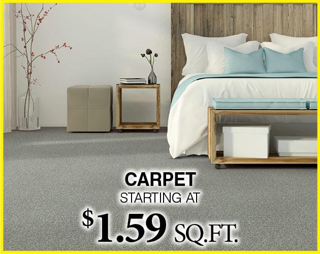 Carpet starting at $1.59 sq.ft.