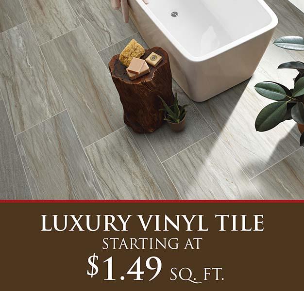 Luxury vinyl tile starting at $1.49 sq. ft.