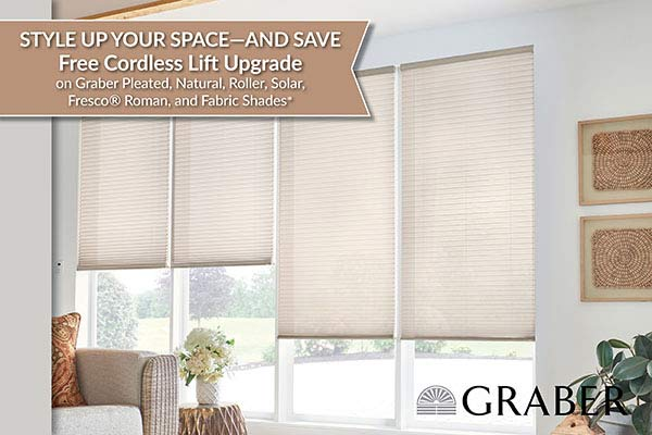 Graber Free Cordless Lift Upgrade - Style up your space and save!